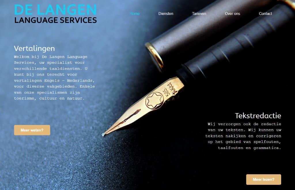 BeeWebdesign portfolio - De Langen Language Services