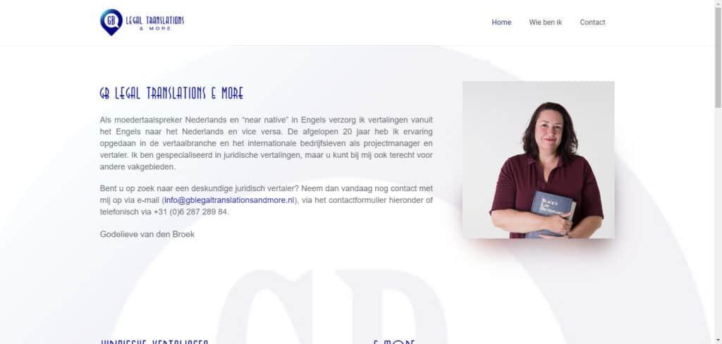 BeeWebdesign portfolio - GB Legal Translations & more