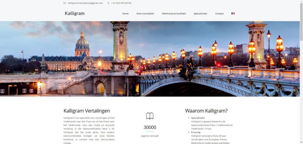 BeeWebdesign portfolio - Kalligram