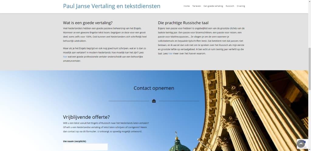 BeeWebdesign portfolio - Paul Janse