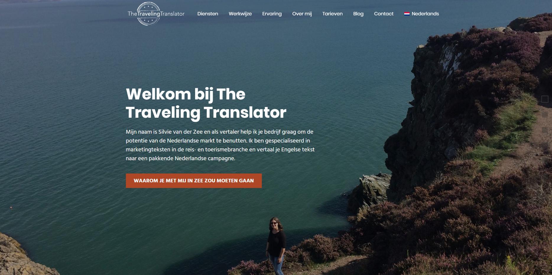 BeeWebdesign portfolio - The Traveling Translator