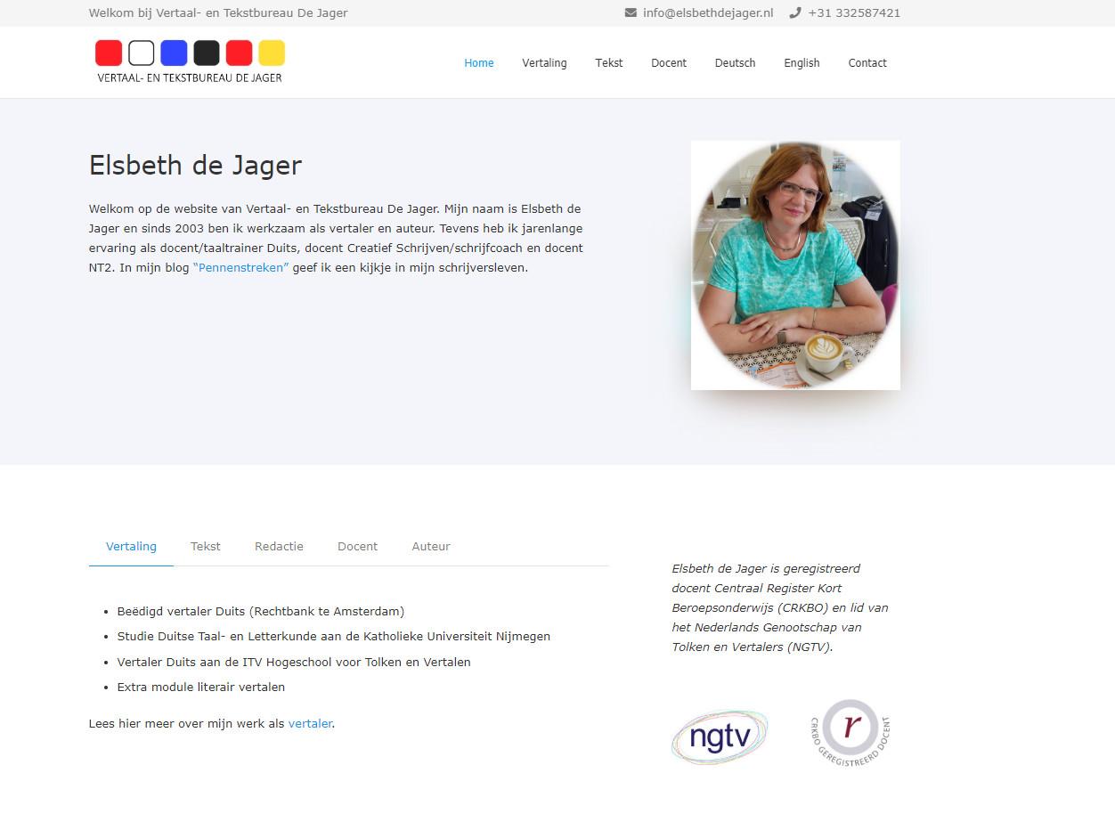 BeeWebdesign portfolio - Elsbeth de Jager