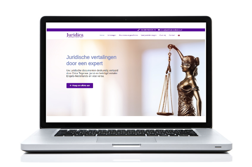 BeeWebdesign portfolio - Juridica Translations